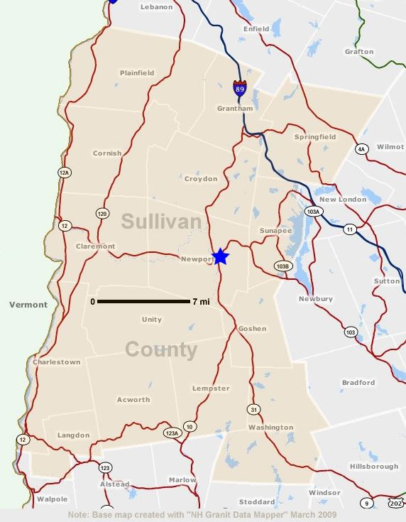 Sullivan County Map